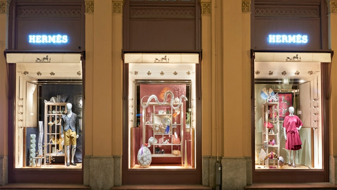 Marant, Hermes, And Cartier's Artistic Store Windows