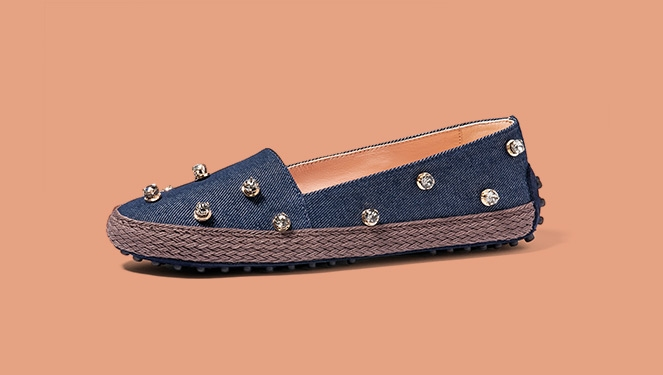 Shop Leather, Lace And Denim Espadrilles - The It Shoe Of The Summer