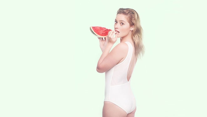 A Blonde Andi Eigenmann Shows 'cheek' In 7 One-piece Swimsuits