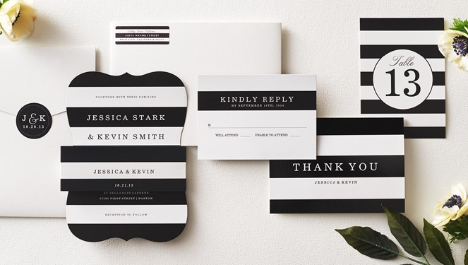 5 Minimalist Wedding Invitation Ideas