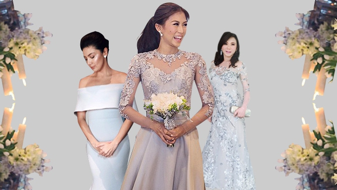 Lea salonga wedding bridesmaid dresses