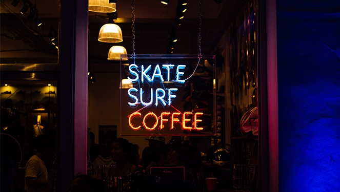 Grab Coffee, Boards And Swimsuits At Easy Skate-surf