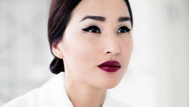 The Secret Behind Nicole Warne's Dark Wine Lip Color
