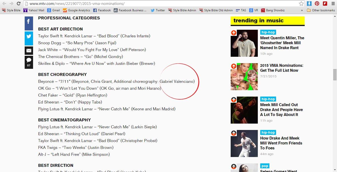 Gab Valenciano Nominated in MTV Video Music Awards