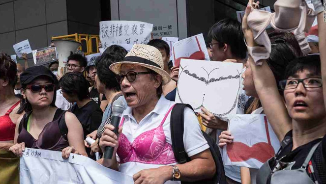 Hong Kong Citizens Wore Bras In Protest