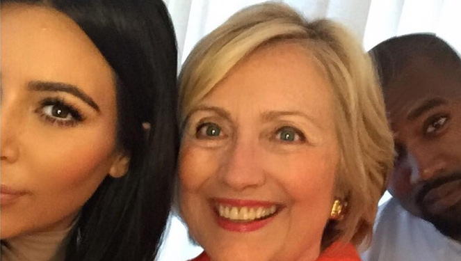 Kim Kardashian And Hillary Clinton Broke Protocol And Took A Selfie Together
