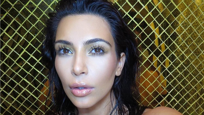 Kim Kardashian Shows Off Her Baby Bump In A Nude, #nofilter Selfie