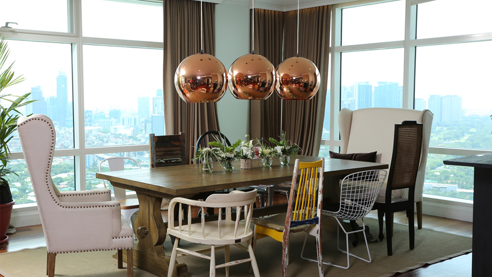 Check out the mismatched chairs in anne curtis dining room preview check out the mismatched chairs in anne curtis dining room workwithnaturefo