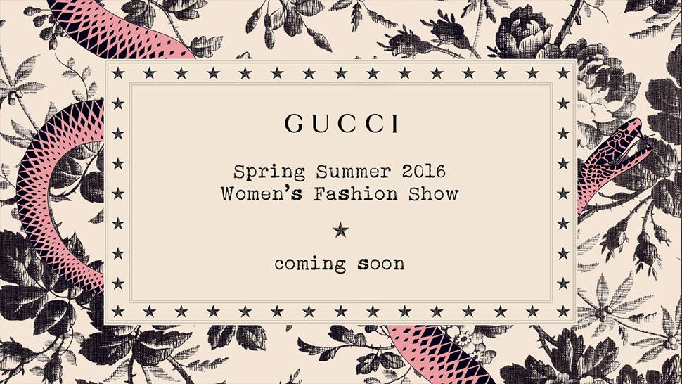 Milan Fashion Week Live Streaming: Gucci Spring/Summer 2016