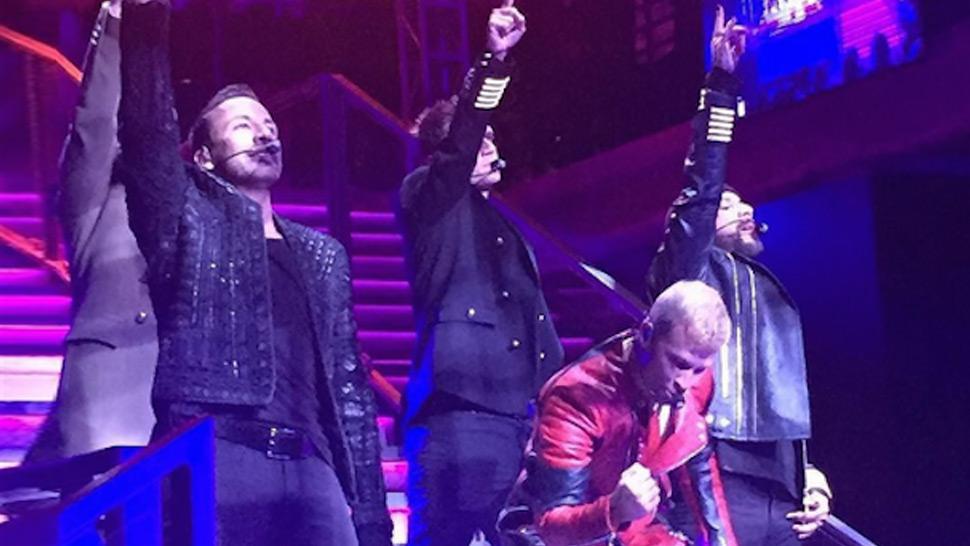 The Backstreet Boys Reunite at the H&M X Balmain Show