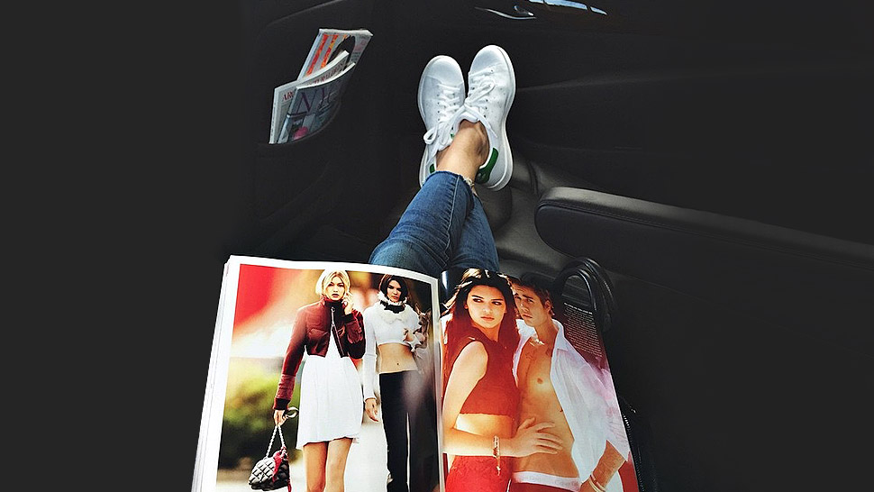 How Supermodels Wear White Kicks