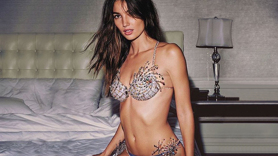 Lily Aldridge Dazzles In This Year's Victoria's Secret Fantasy Bra