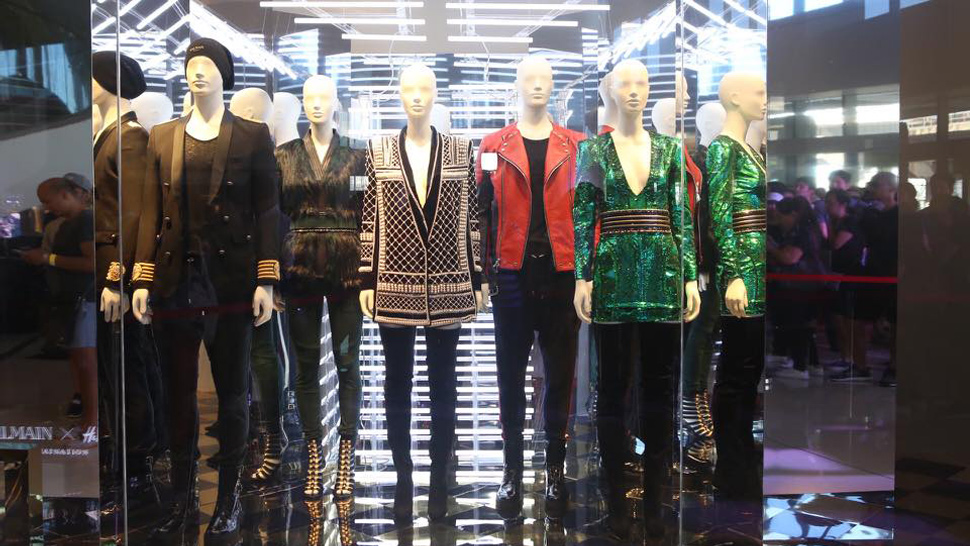 Scenes from the Launch of H&M X Balmain