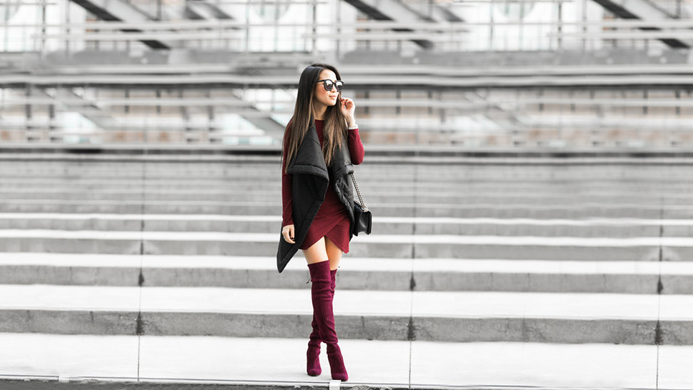How To Wear Thigh-high Boots, According To This Week's Top Blogger Ootds