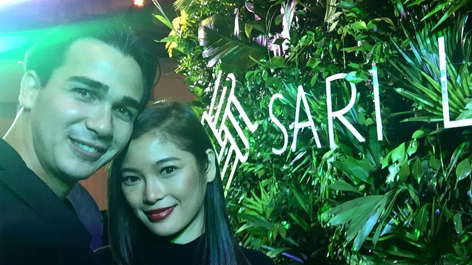 James Younghusband Pulls a David Beckham at Sari Lazaro's Couture Show