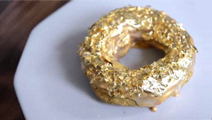 This Golden Ube Donut Costs $100