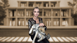 Cara Delevingne Brings Her Pet Dog To The Chanel Spring 2016 Show