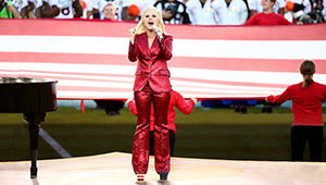Lady Gaga Wore Mismatched Shoes At The Super Bowl