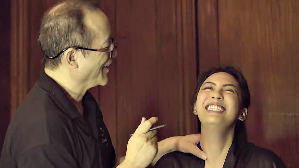 WATCH: Dominique Cojuangco Gets Her Dad to Do Her Makeup