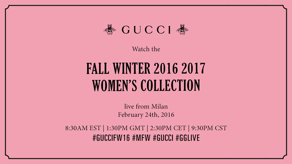 Watch the Gucci Fall/Winter 2016 Fashion Show Live