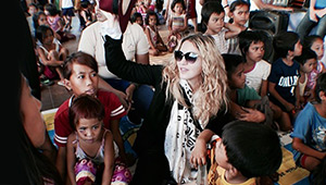 Madonna Visits 2 Orphanages In Manila Prior To Her Concert