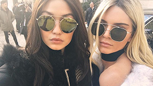 Kendall Jenner And Gigi Hadid Swapped 'dos For The Balmain Fall 2016 Show