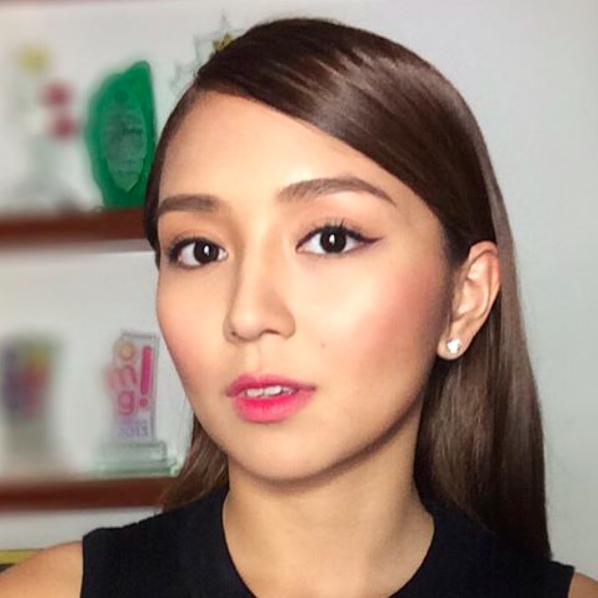 Teen Queen Kathryn Bernardo's Korean-inspired look hit the nail on the head with her straight brows and winged liner. After which, she finished it off with ...