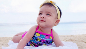 6 Celebrity Babies And Their Cute Beach Outfits