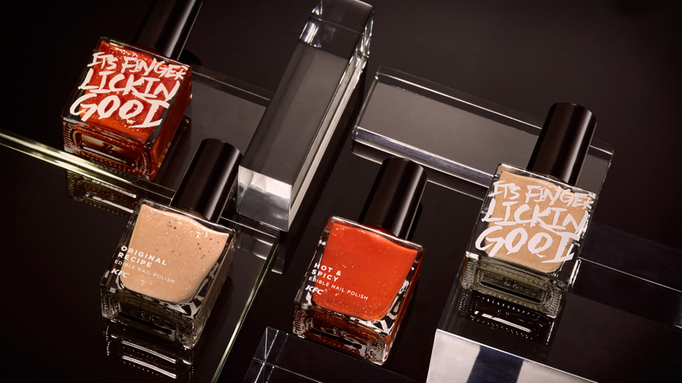 Kfc Releases Edible Nail Polish That Taste Like Chicken
