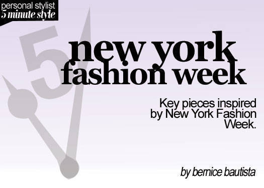 5 Minute Style: Ny Fashion Week