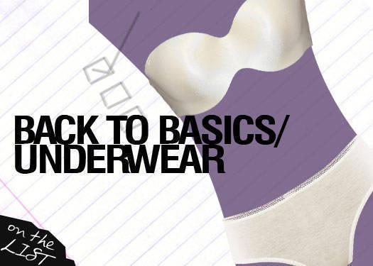 Back To Basics: Underwear