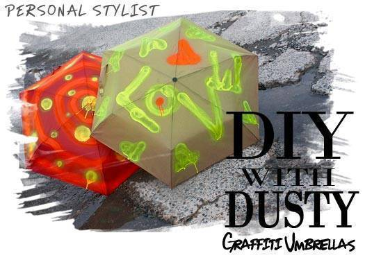 Diy With Dusty: Graffiti Umbrellas