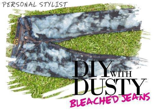 Diy With Dusty: Bleached Jeans