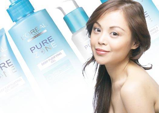 The New Face Of L'oreal Pure Zone
