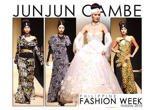 Philippine Fashion Week Holiday 2010: Jun Jun Cambe