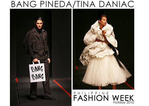 Philippine Fashion Week Holiday 2010: Bang Pineda & Tina Daniac
