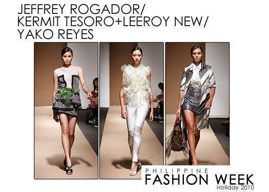Philippine Fashion Week Holiday 2010: Rogador, Tesoro & New, Reyes