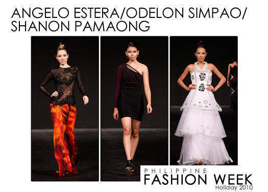 Philippine Fashion Week Holiday 2010: Estera, Simpao & Pamaong