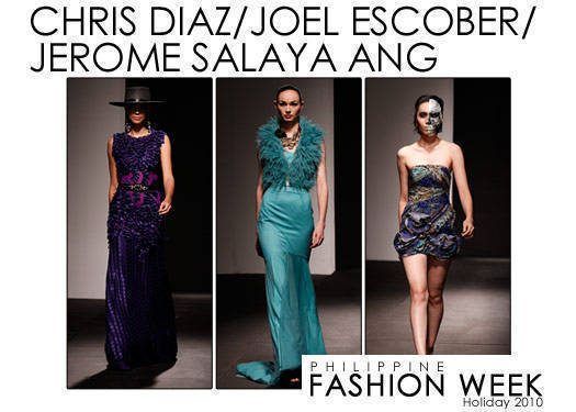 Philippine Fashion Week Holiday 2010: Diaz, Escober & Ang