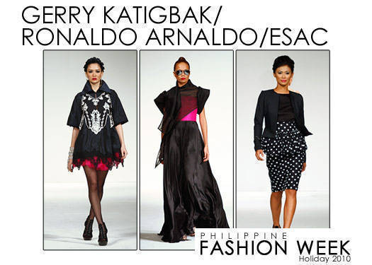 Philippine Fashion Week Holiday 2010: Katigbak, Arnaldo & Esac