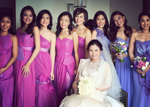 The Bridesmaids Wore: Kristel Yulo