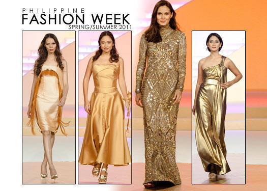 Philippine Fashion Week Spring/summer 2011: Pond's Presents Gold