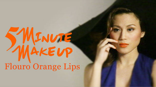 5 Minute Make Up: Fluoro Orange Lips