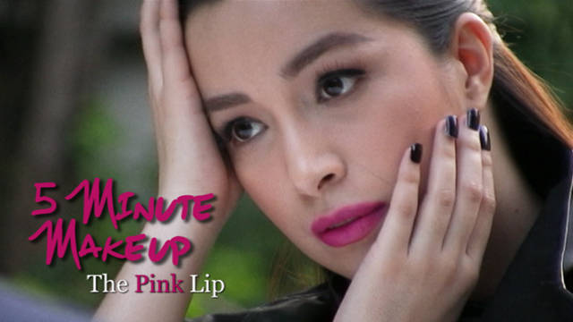 5 Minute Makeup: The Pink Lip