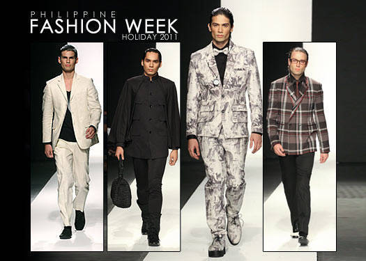 Philippine Fashion Week Holiday 2011: Menswear