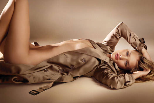 Rosie Bares It All For Burberry