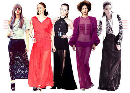 Trendspotting: Sheer Maxi Skirts