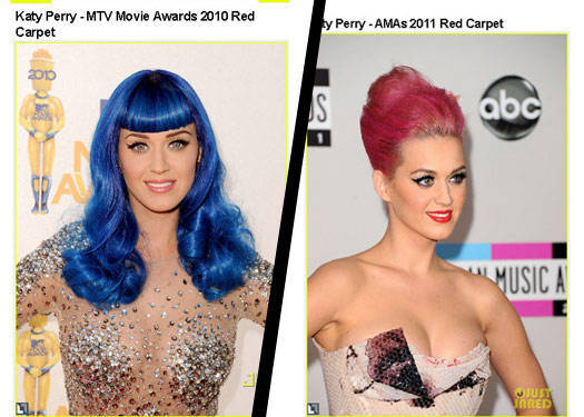 Katy Perry's Bright Hair Color