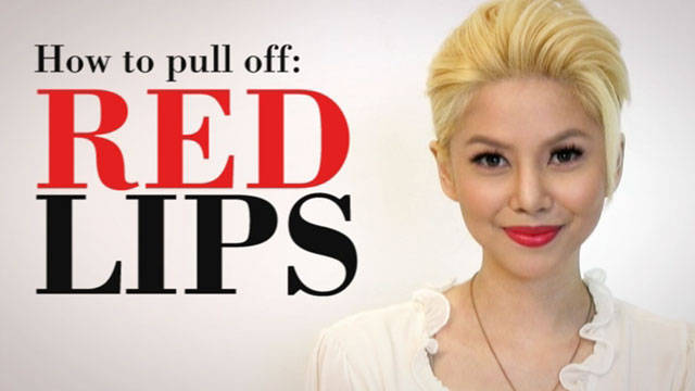 How To Apply Red Lips (and Make Them Last) 1