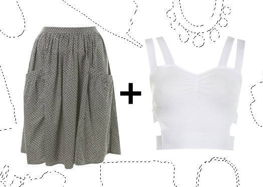 Personal Stylist: Cropped Top And Skirt